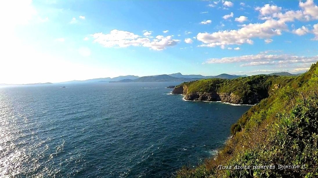 Vue de la pointe de la Madrague, Presqu'île de Giens